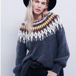 Free People Baltic Fairisle Slouchy Sweater